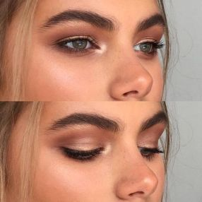 Fabulous look natural green eyes makeup 1