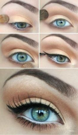 Fabulous look natural green eyes makeup 10