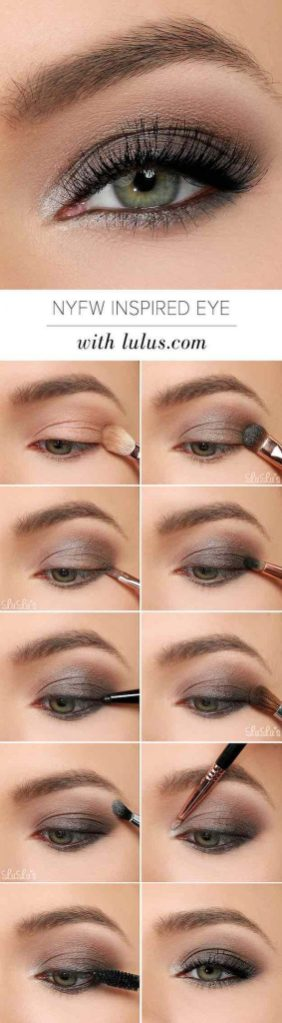 Fabulous look natural green eyes makeup 13