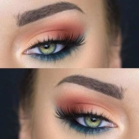 Fabulous look natural green eyes makeup 19