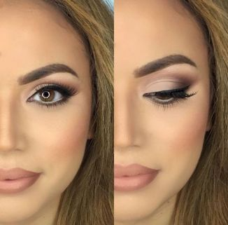 Fabulous look natural green eyes makeup 5