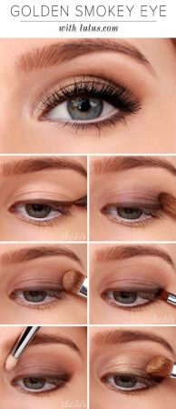 Fabulous look natural green eyes makeup 8