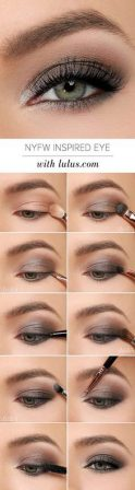 Fabulous look natural green eyes makeup 9