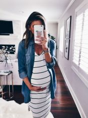 Fashionable maternity fashions outfits ideas 138