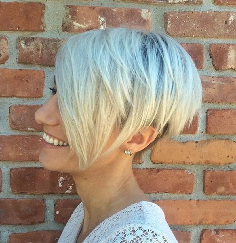 Funky short pixie haircut with long bangs ideas 10