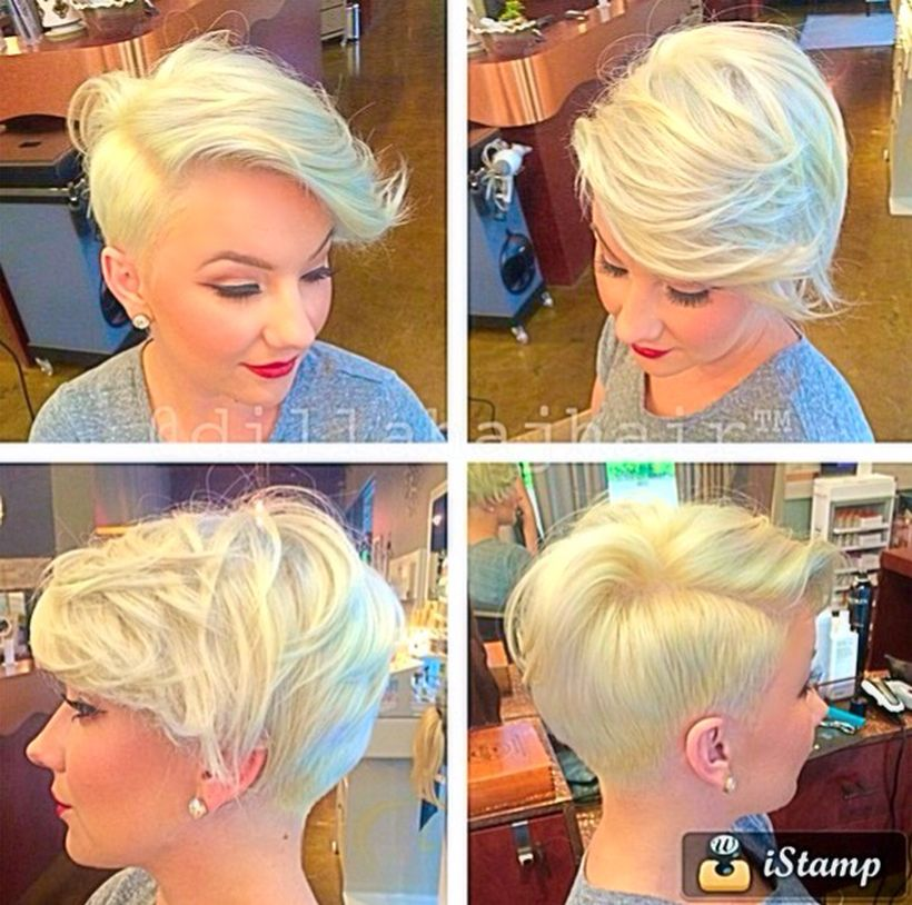 Funky short pixie haircut with long bangs ideas 13