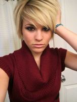 Funky short pixie haircut with long bangs ideas 51