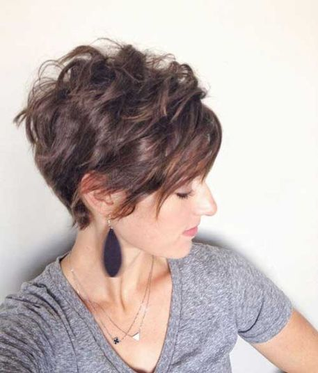 Funky short pixie haircut with long bangs ideas 6