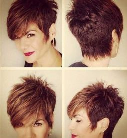 Funky short pixie haircut with long bangs ideas 7