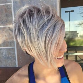 Funky short pixie haircut with long bangs ideas 72