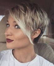 Funky short pixie haircut with long bangs ideas 78