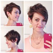 Funky short pixie haircut with long bangs ideas 89