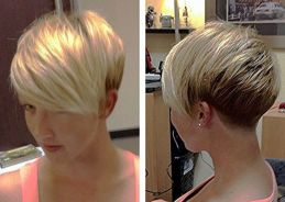 Funky short pixie haircut with long bangs ideas 93