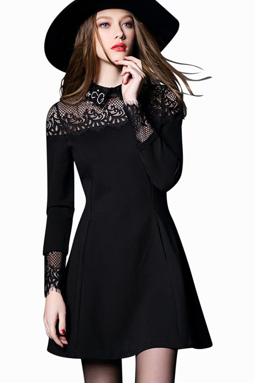 Gorgeous elegance black dress outfits 37