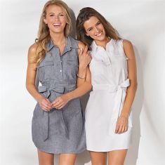 Gorgeous white shirtdresses for summer and spring outfits 14