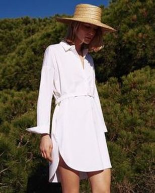 Gorgeous white shirtdresses for summer and spring outfits 18