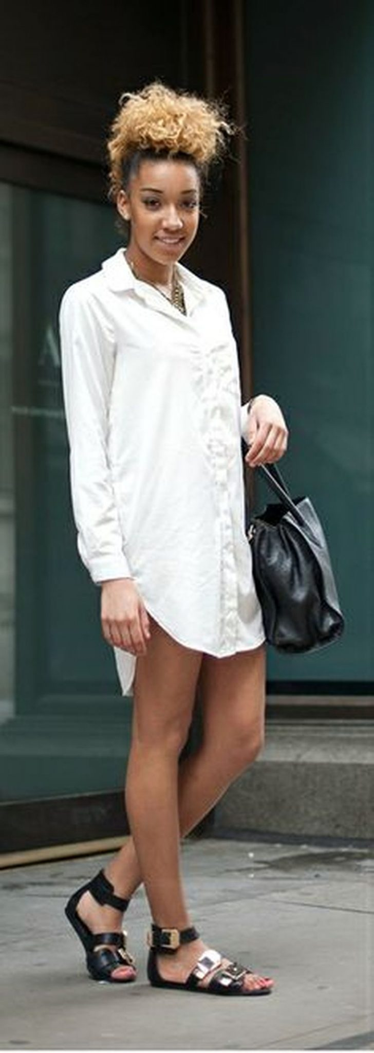 Gorgeous white shirtdresses for summer and spring outfits 26