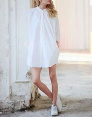 Gorgeous white shirtdresses for summer and spring outfits 29