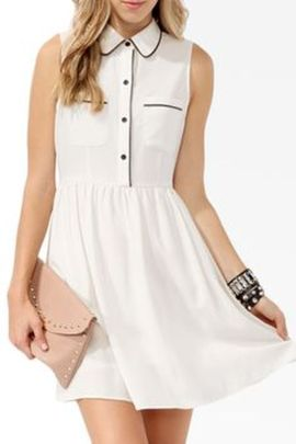 Gorgeous white shirtdresses for summer and spring outfits 31