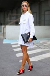 Gorgeous white shirtdresses for summer and spring outfits 41