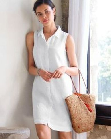 Gorgeous white shirtdresses for summer and spring outfits 52
