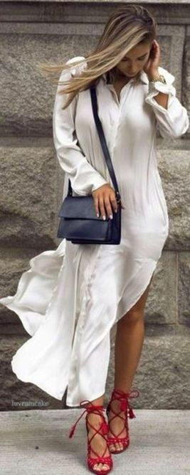 Gorgeous white shirtdresses for summer and spring outfits 70