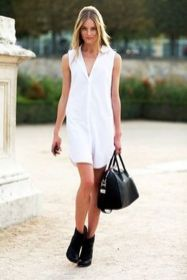 Gorgeous white shirtdresses for summer and spring outfits 8