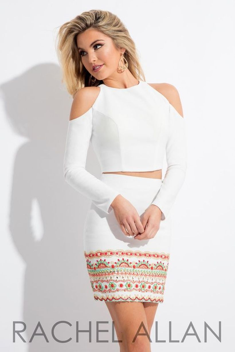 Gorgeous white two piece outfits ideas 25
