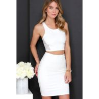Gorgeous white two piece outfits ideas 29