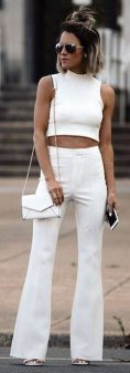 Gorgeous white two piece outfits ideas 32