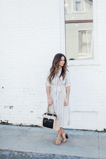 Marvelous striped shirtdresses outfits ideas 12