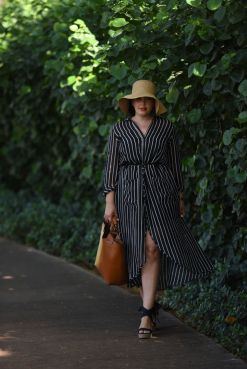 Marvelous striped shirtdresses outfits ideas 32