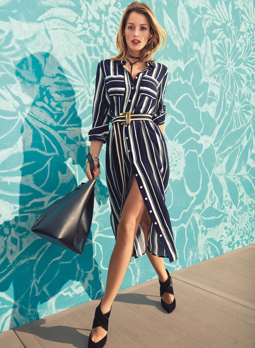 Marvelous striped shirtdresses outfits ideas 5