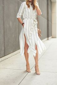 Marvelous striped shirtdresses outfits ideas 53