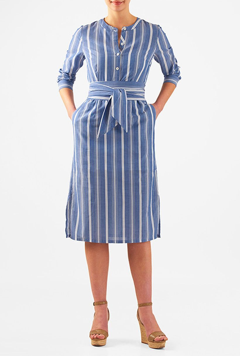 Marvelous striped shirtdresses outfits ideas 72