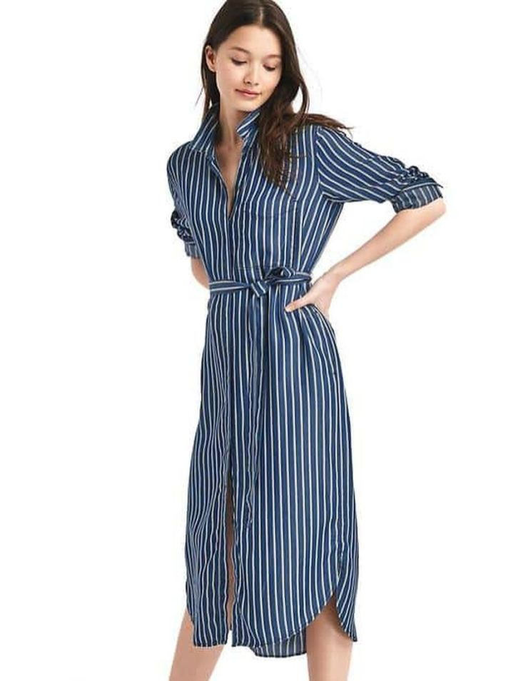 Marvelous striped shirtdresses outfits ideas 77
