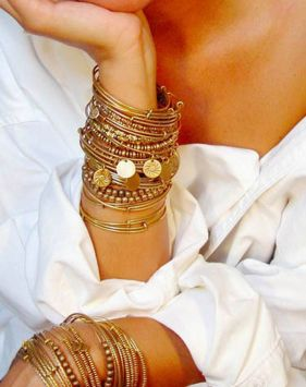 Stacked arm candies jewelry ideas 115