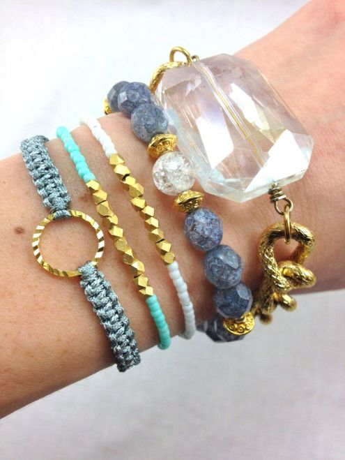 Stacked arm candies jewelry ideas 30