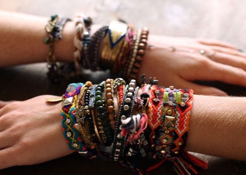 Stacked arm candies jewelry ideas 37