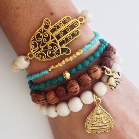 Stacked arm candies jewelry ideas 39