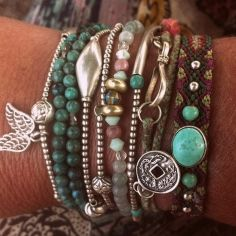 Stacked arm candies jewelry ideas 41