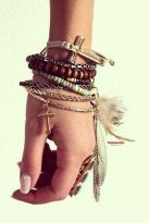 Stacked arm candies jewelry ideas 43