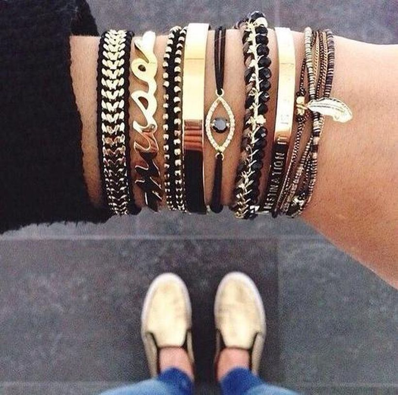 Stacked arm candies jewelry ideas 5