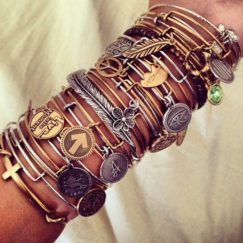 Stacked arm candies jewelry ideas 99