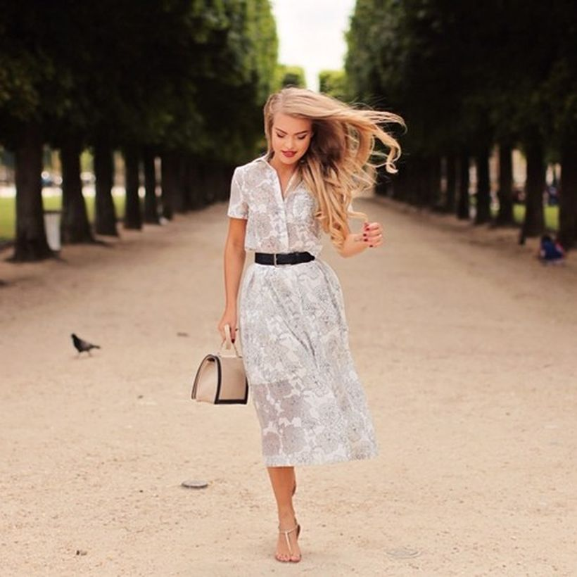 Stunning white shirtdresses outfits 1
