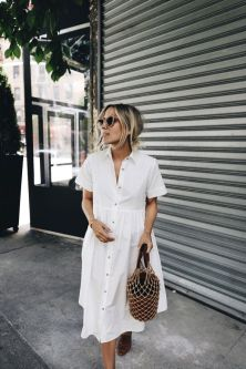 Stunning white shirtdresses outfits 14