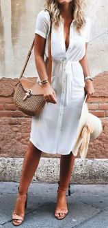Stunning white shirtdresses outfits 16