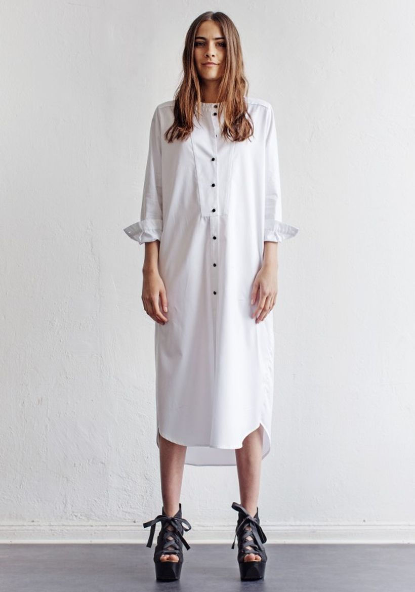 Stunning white shirtdresses outfits 2