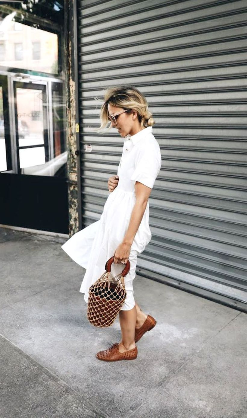 Stunning white shirtdresses outfits 23