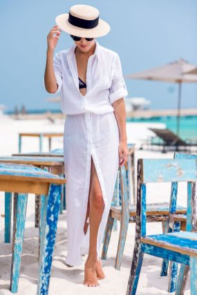 Stunning white shirtdresses outfits 31